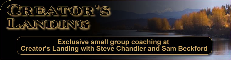 Creator's Landing - Exclusive small group coaching at Creator's Landing with Steve Chandler and Sam Beckford